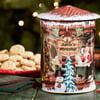 Musical Rotating Santa's Workshop Cookie Tin