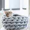 Ohhio Chunky Braid Cat Bed
