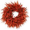 Organic Chili Pepper Wreath