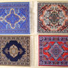 Oriental Rug Coasters - Handcrafted in Istanbul, Turkey!