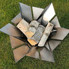 Phoenix Blossom - Sculptural Stainless Steel Fire Pit