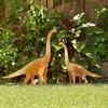 Plant Eating Brontosaurus Metal Lawn Sculptures