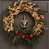 Pre-Lit Wine Cork And Berries Holiday Wreath