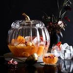 Pumpkin Punch Bowl and Punch Cups
