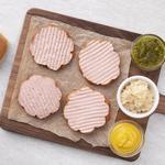 Rastelli's Round Hot Dogs - Shaped Like Hamburger Patties!