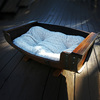 Reclaimed Wine Barrel Dog Bed