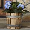 Reclaimed Wine Barrel Stave Planter