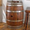 Reclaimed Wine Barrel With Built-In Wine Fridge