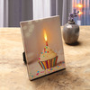 Recordable Message Birthday Cupcake Canvas with LED Candle Flame