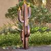 Recycled Metal Saguaro Cactus Torch