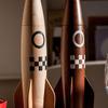 Rocket Ship Salt and Pepper Mill