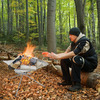 Rootless Portable Steel Mesh Fire Pit