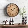 Rustic Wine Barrel Head Wall Clock
