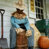 Scary Animatronic Sitting Scarecrow - Hands Out Candy and Terror!