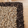 Scrappy Shag Leather Rug