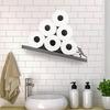 Sisyphus - Tilted Toilet Paper Shelf Inspired By Greek Mythology
