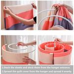 Spiral Hanger - Space-Saving Drying Rack For Sheets, Blankets, and More