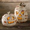 Spooky Lighted Mummy Pumpkins