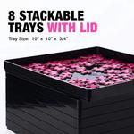 Stackable Jigsaw Puzzle Sorting Trays - Sort by Patterns, Shapes, and Colors