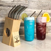 Straw Dock - Reusable Stainless Steel Straw Holder