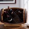 Tabletop Wine Barrel Bottle Rack