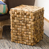Teak Wood Blocks Side Table / Stool / Stand