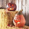 Terra Cotta Pumpkin Lanterns