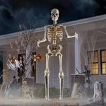 Terrifying 12 Foot Tall Giant Skeleton With Animated LCD Eyes