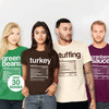 Thanksgiving Nutrition Label T-Shirts