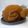 Thanksgiving Turkey Platter Crocheted Hat