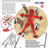 Throwzini's Knife Block - Spinning Wheel of Death for Cutlery
