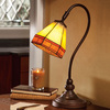 Tiffany-Style Stained Glass Mission Desk Lamp