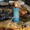 Tiki Torch Water Spitter - Illuminates and Aerates Backyard Ponds