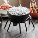 Trick or Treat Metal Spider Candy Bowl
