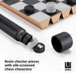 Umbra Rolz - Portable Roll Up Chess and Checkers Set