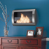 Clean-Burning Wall-Mounted Fireplace
