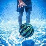 Watermelon Ball - Dribble, Kick, Bounce, and Pass Underwater
