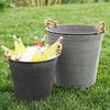 Weathered Sol Zinc Buckets