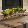 Wine Barrel Stave Centerpiece - Holds Flowers, Snacks, Dips, Appetizers, and More