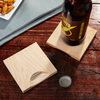 Wooden coasters With Built-in Bottle Openers