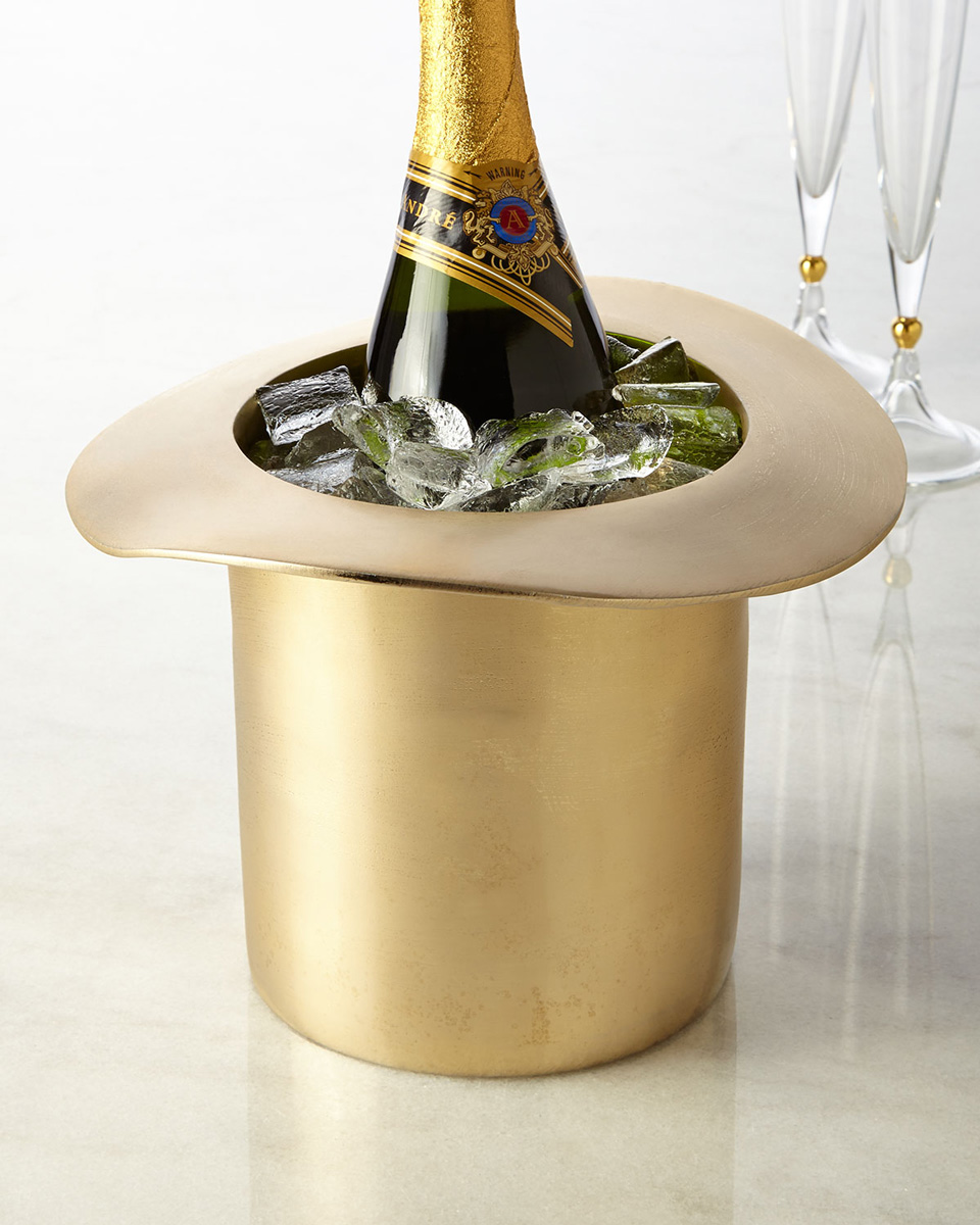 top hat champagne cooler ice bucket the green head. Black Bedroom Furniture Sets. Home Design Ideas