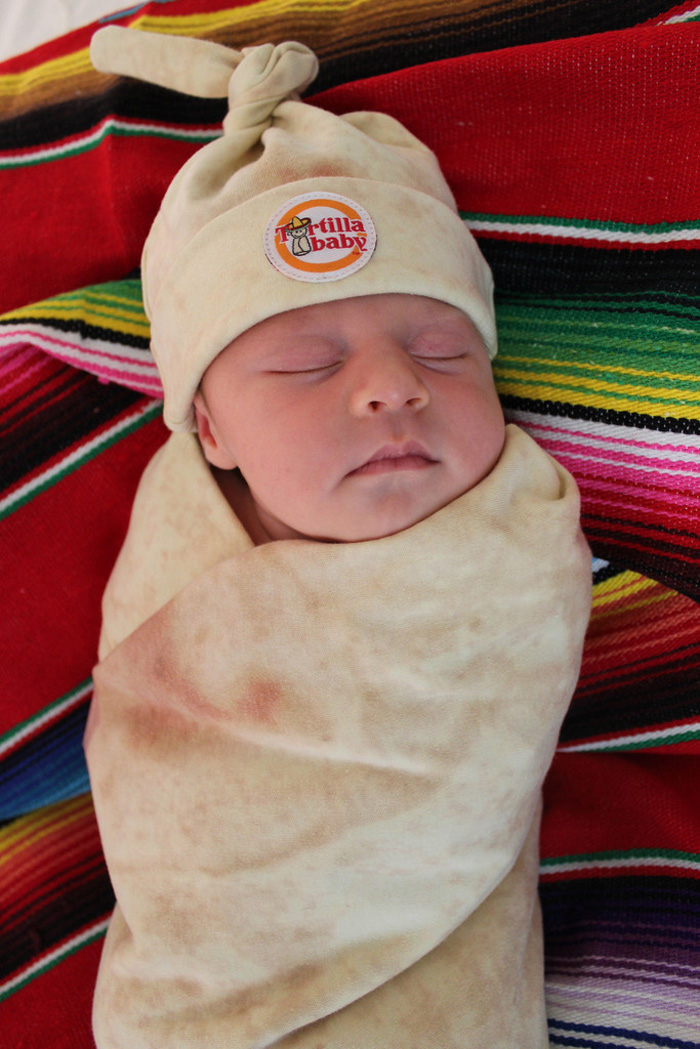 Tortilla Baby Swaddle Blanket And Matching Hat