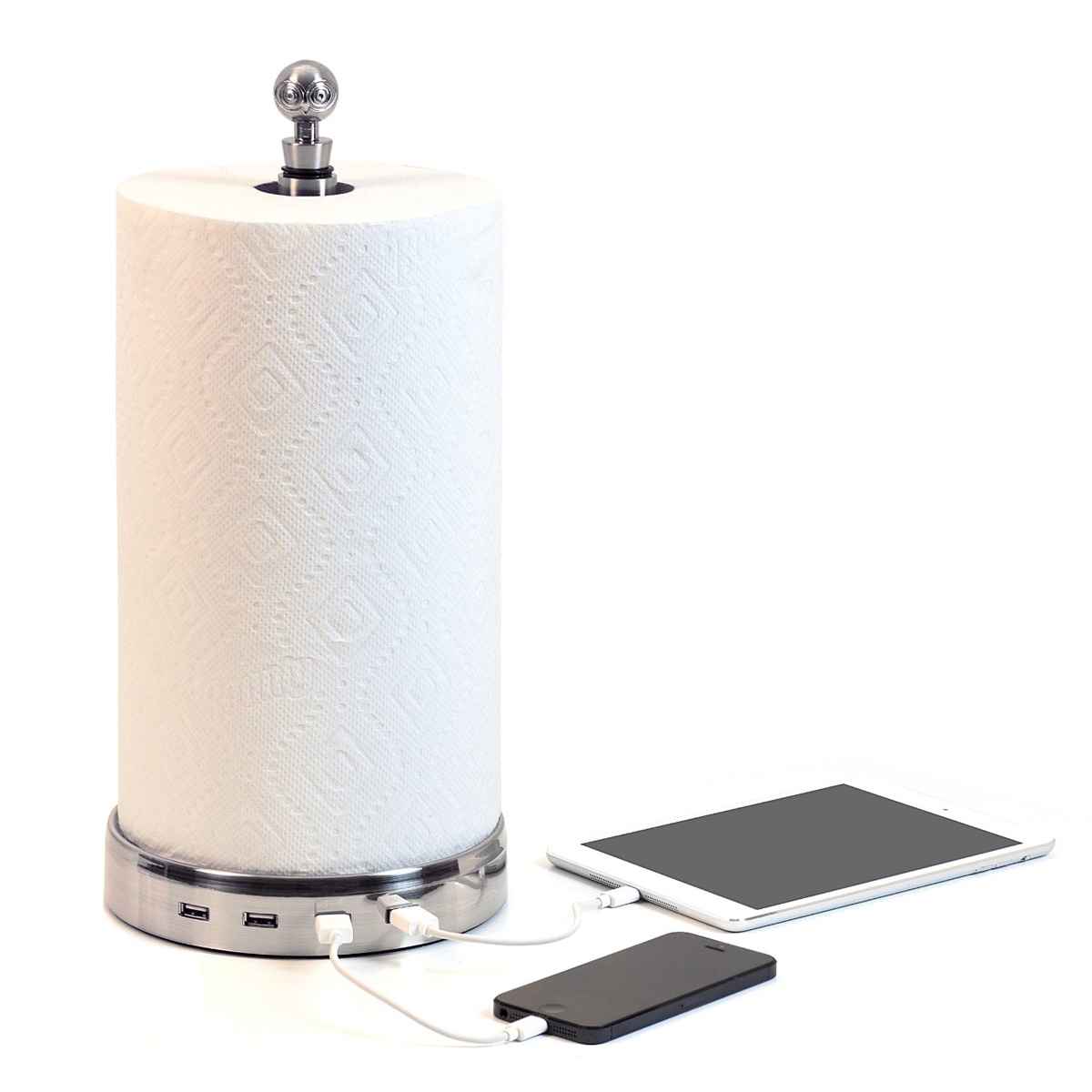 TowlHub - USB Paper Towel Holder / Charger - The Green Head