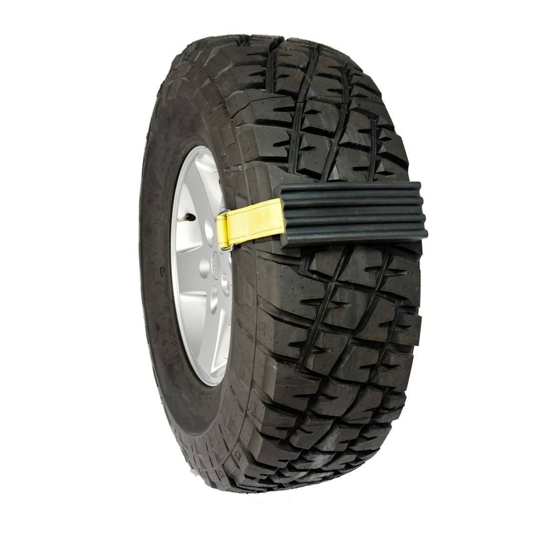 All Terrain Tires >> Trac-Grabber - Strap-On Tire Traction Blocks - The Green Head