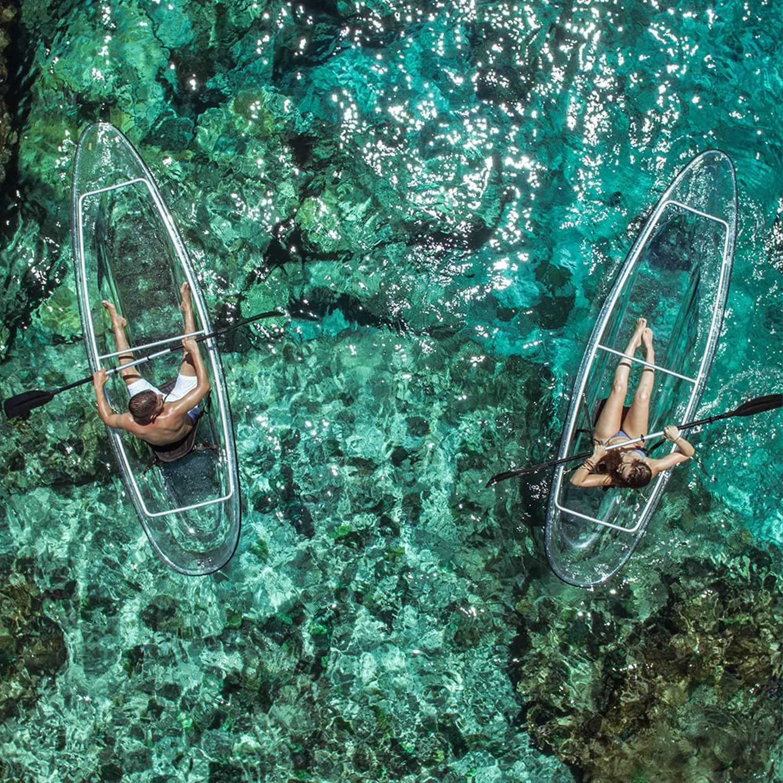 transparent canoe kayak hybrid the green head