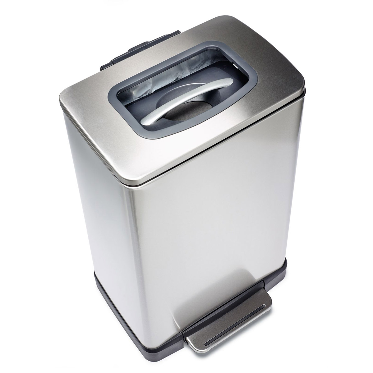 Trash Krusher - Trash Can With Built-In Manual Trash Compactor - The ...