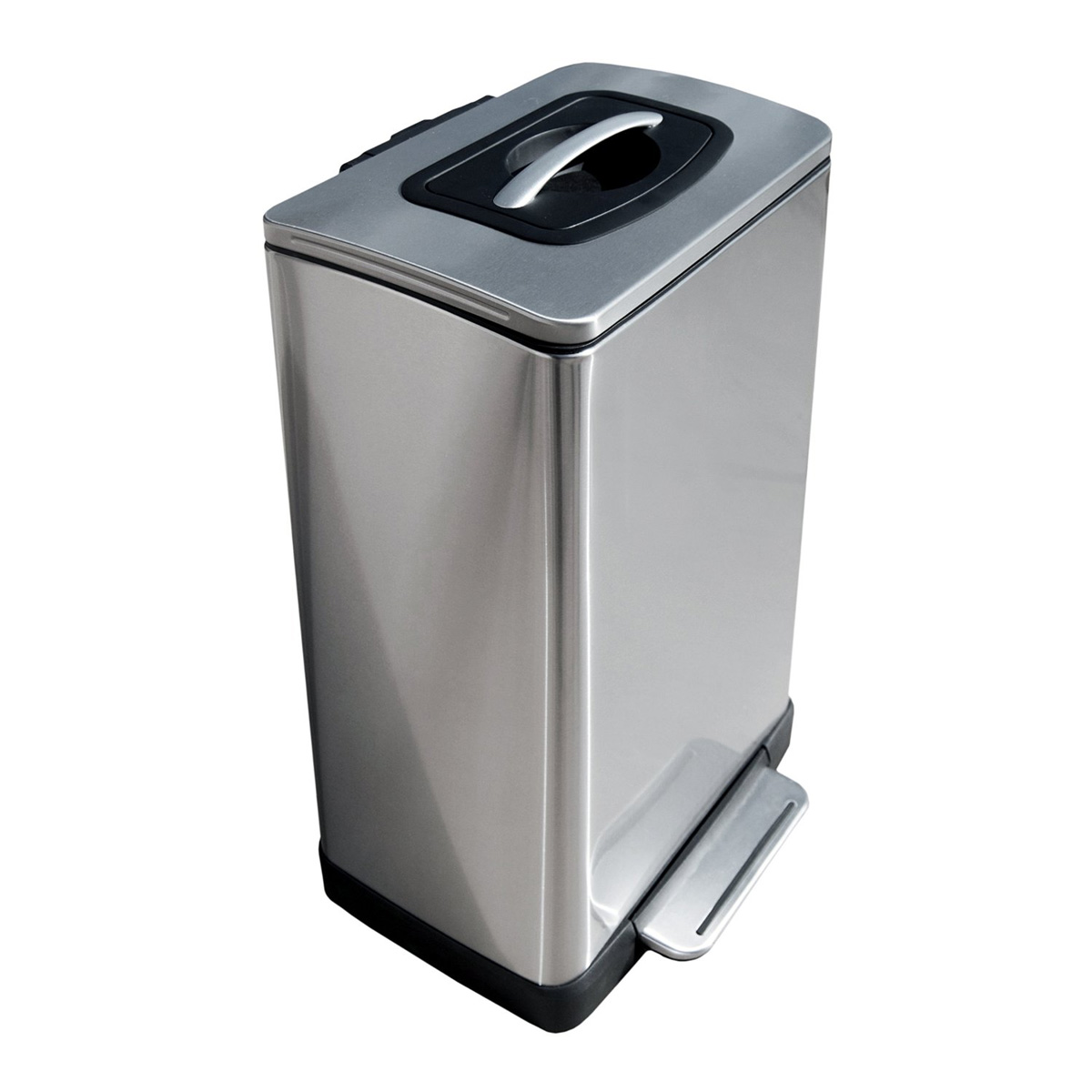 trash krusher trash can with builtin manual trash compactor