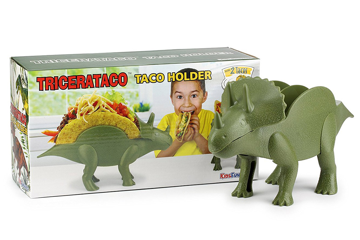 TriceraTACO Triceratops Taco Holder The Green Head