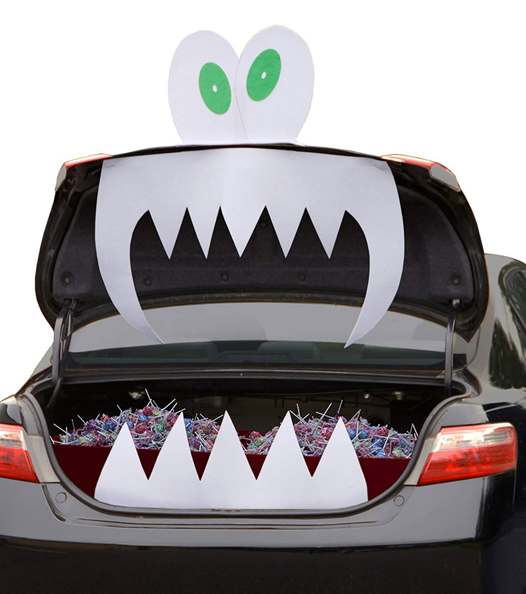 trunk or treat halloween car trunk decorations