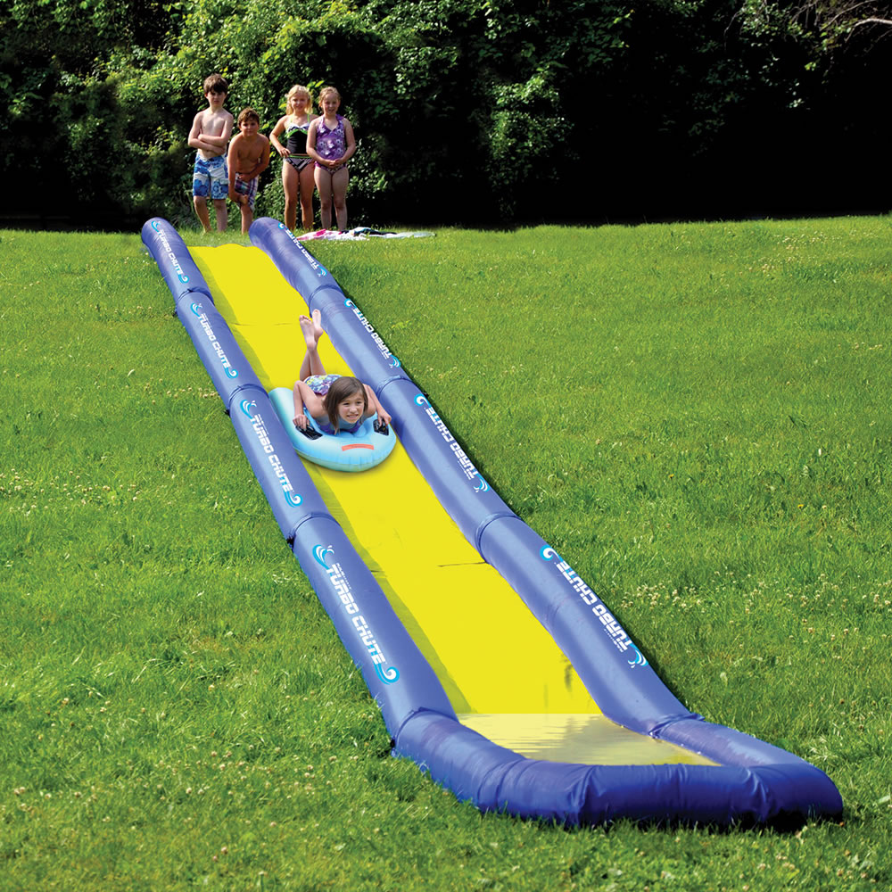 turbo chute world u0027s longest backyard water slide the green head